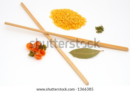 ingredients for a food - stock photo