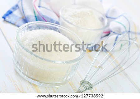 ingredients for dought - stock photo
