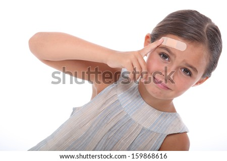 Injured child - stock photo