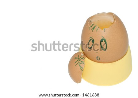 Injured Egg - stock photo