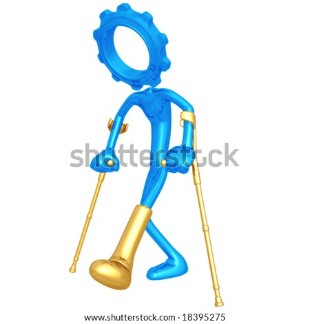 Injured Gear Person - stock photo