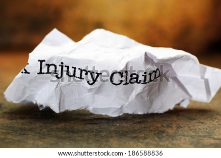 Injury claim - stock photo