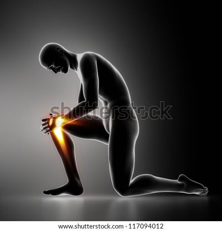 Injury knee concept - stock photo