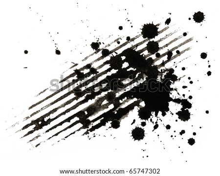 ink blobs - stock photo
