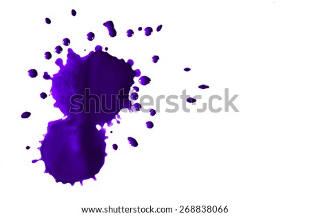 ink blot on white paper - stock photo