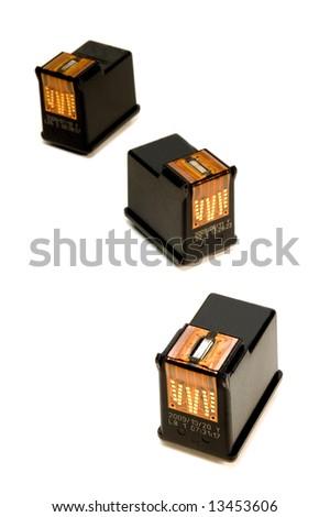ink cartridges over white background - stock photo