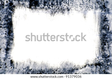 ink design of grungy frame, abstract art background - stock photo