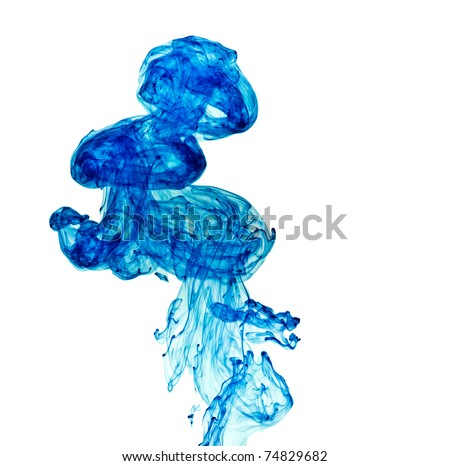 ink in water on a white background - stock photo