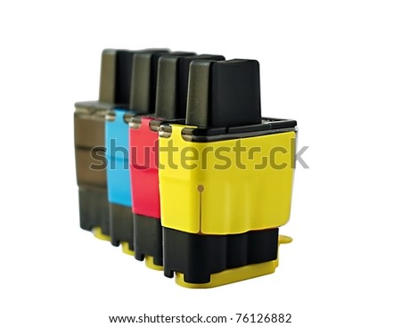 Ink jet cartridges - stock photo