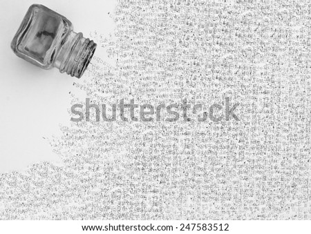 ink pot and letters - stock photo