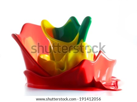 ink splash color abstraction - stock photo