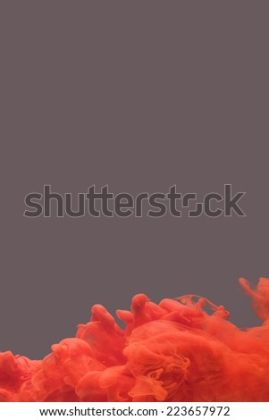 Ink swirling in water, cloud of ink. Abstract banner paints. - stock photo