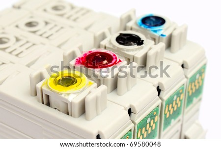 Inkjet printer cartridges - stock photo