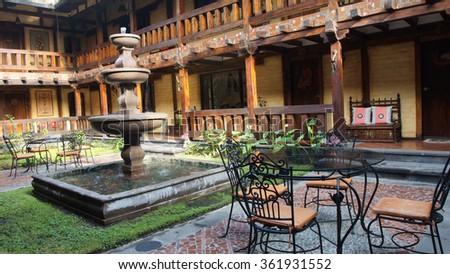 Large Dining Room Peruvian Hacienda Stock Photo 60678931