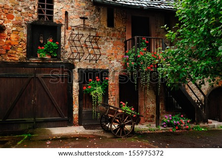 Inner yard scene at Kaysersberg, France