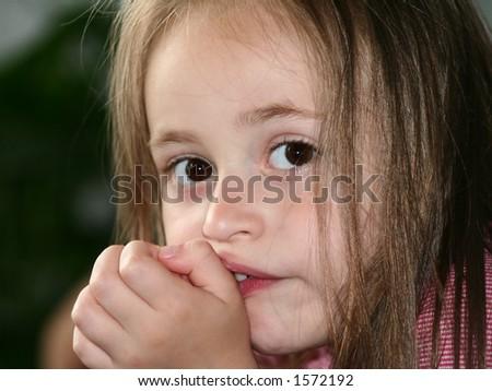 Innocent girl - stock photo