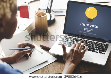 innovate Development Ideas Progress Development Concept - stock photo