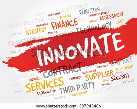 INNOVATE word cloud, business concept - stock photo