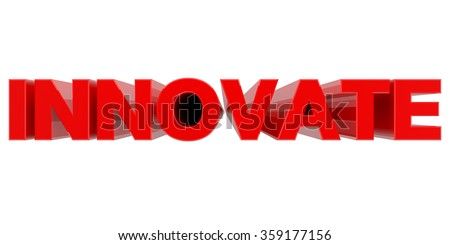 INNOVATE word on white background 3d rendering - stock photo