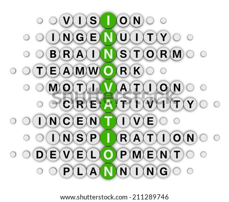 innovation concept crossword puzzle - stock photo