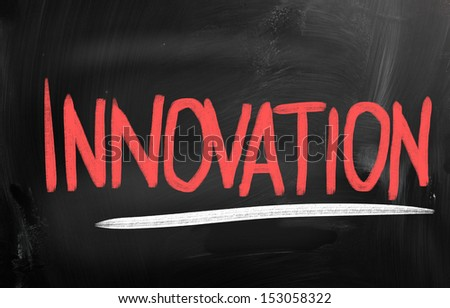 innovation concept written on a chalkboard