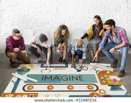 Innovation Ideas Imagine Processing System Concept - stock photo