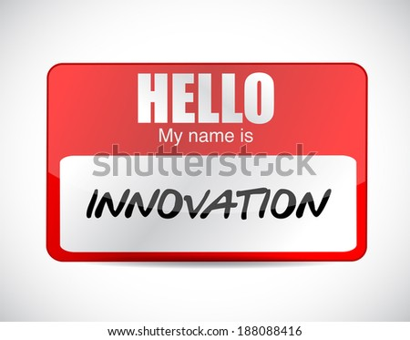 innovation name tag illustration design over a white background - stock photo