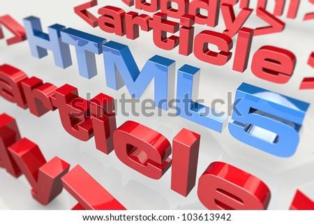 Innovation on the Internet - web design - stock photo
