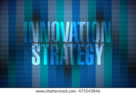 Innovation Strategy binary sign concept illustration design graphic