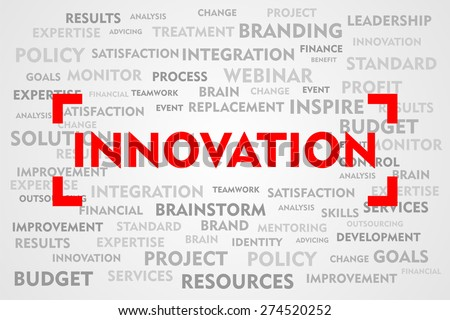 INNOVATION word business concept on red target sign - stock photo
