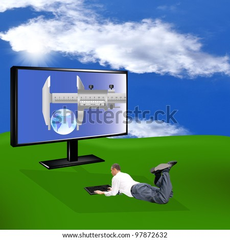 Innovative computer technologies. The Internet the concept - stock photo