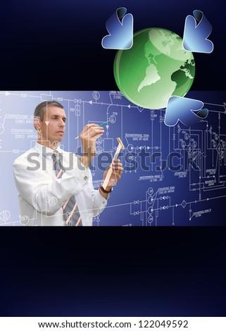 Innovative designing ecological technology - stock photo