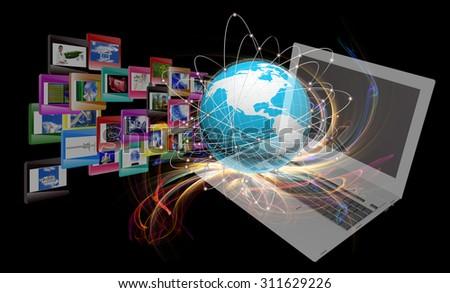 Innovative internet education - stock photo