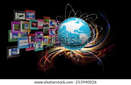 Innovative Internet technologies - stock photo