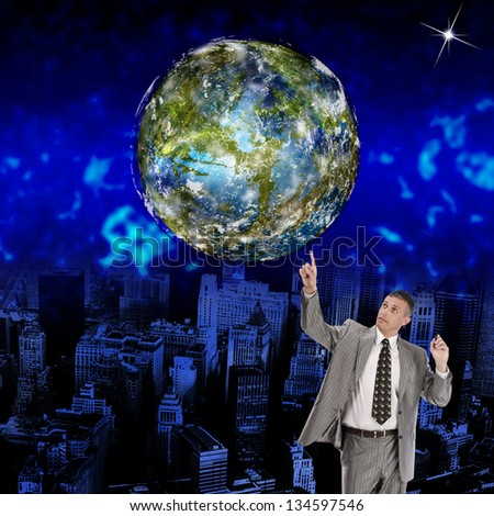 Innovative programming internet.Globe Earth - stock photo
