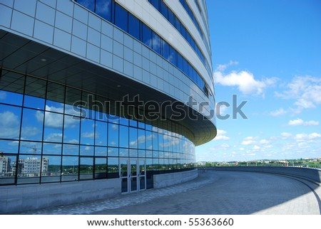 Input in modern office building