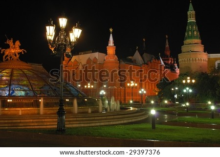 Input on Red Square at night