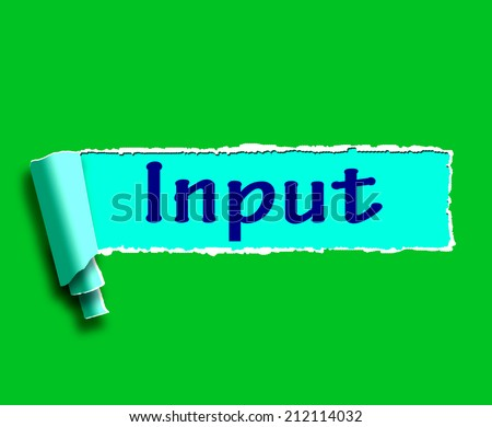 Input Word Meaning Online Advice And Recommendations - stock photo