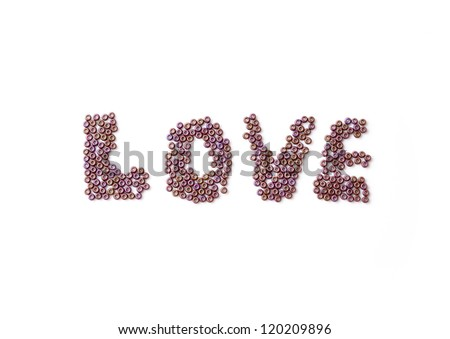 "Inscription ""love"", on white background - stock photo"