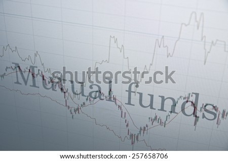 "Inscription ""Mutual funds"" on PC screen. Financial concept. - stock photo"