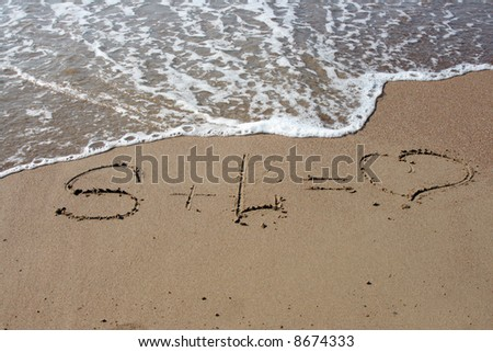 Inscription on sand