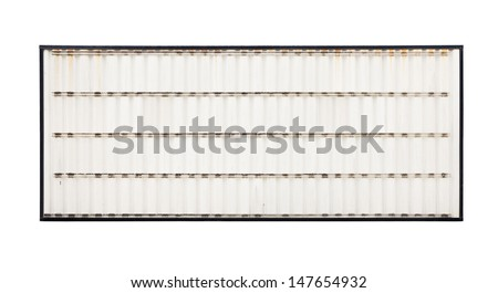 Insert your own message onto this blank retro road side sign - stock photo