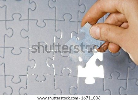Inserting last piece of puzzle