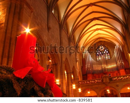 Inside a church - stock photo