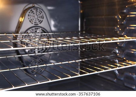Inside a new oven - stock photo