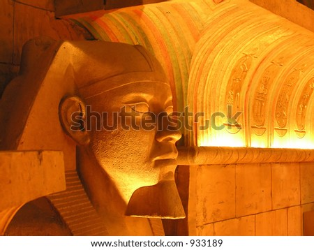 Inside an egyptian tomb - stock photo