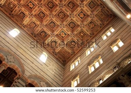 Inside church in Pisa - stock photo