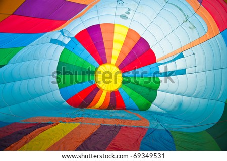 Inside Colorful Hot Air Balloons - stock photo