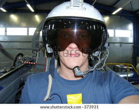 Inside fighter - stock photo