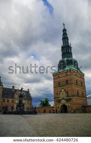 Inside Frederiksborg Castle, Hillerod, Denmark - stock photo